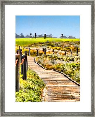 Golf At Pebble Beach Framed Print