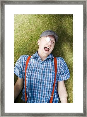 Golf Ball In Eye Framed Print by Jorgo Photography - Wall Art Gallery