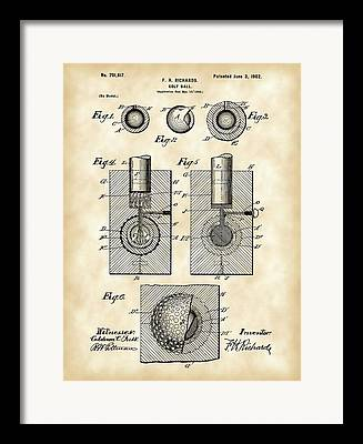 Inventions Digital Art Framed Prints