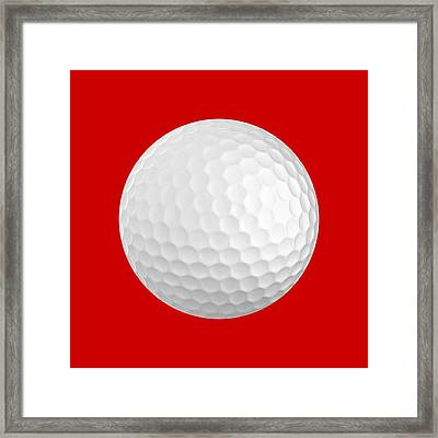 Golf Ball Framed Print by Roger Smith