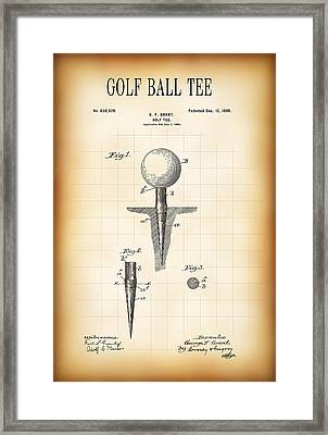 Golf Ball Tee Patent  1899 Framed Print by Daniel Hagerman