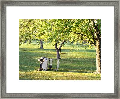 Golf Cart Accident Picture Framed Print by Paul Velgos