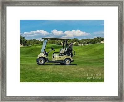 Golf Cart Framed Print