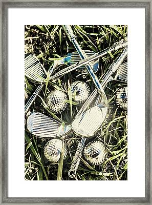 Golf Chrome Framed Print