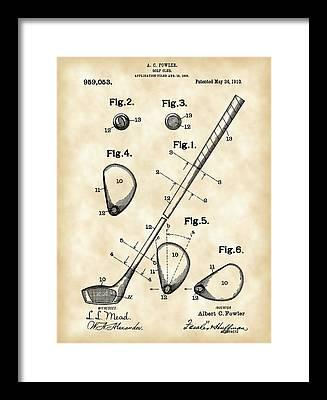 Patent Illustration Framed Prints