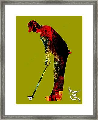 Golf Collection Framed Print by Marvin Blaine
