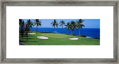 Golf Course At The Oceanside, Kona Framed Print by Panoramic Images