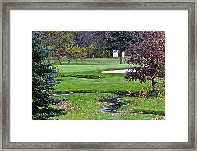 Golf Course Hazards Framed Print by Frozen in Time Fine Art Photography