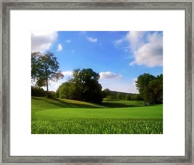 Golf Course Landscape Framed Print