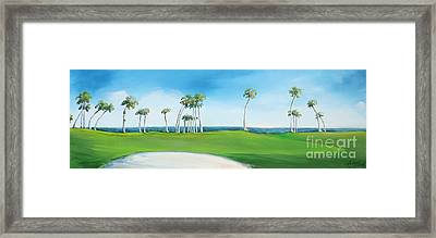 Golf Course With Palms Framed Print by Michele Hollister - for Nancy Asbell