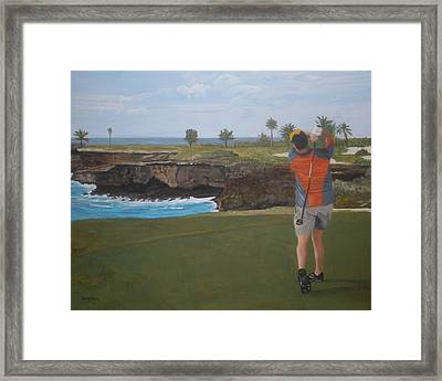 Golf Day Framed Print