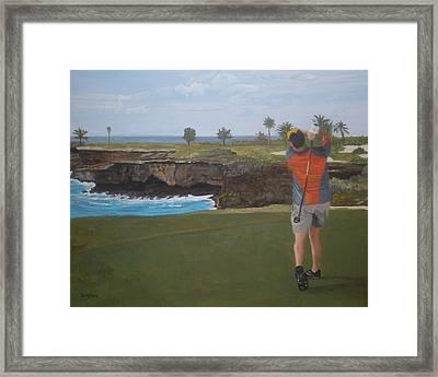 Golf Day Framed Print by Betty-Anne McDonald