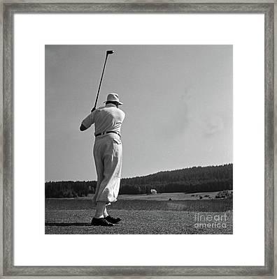 Golf Framed Print by German School