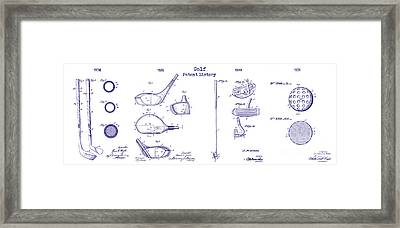 Golf History Patent Drawing Framed Print by Jon Neidert