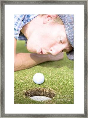 Golf Hole In One Puff Framed Print by Jorgo Photography - Wall Art Gallery