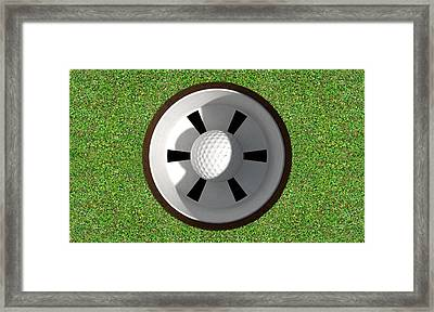 Golf Hole With Ball Inside Framed Print by Allan Swart