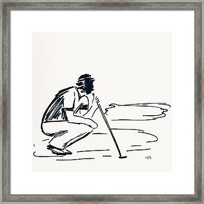 Golf IIi Framed Print by Winifred Kumpf
