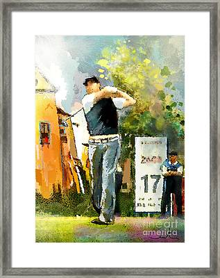Golf In Club Fontana Austria 01 Dyptic Part 01 Framed Print by Miki De Goodaboom