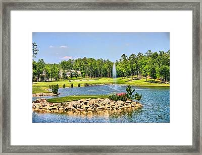 Golf In The Morning Framed Print by Kathy Tarochione