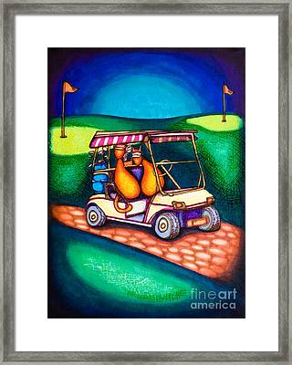 Golf Kats Framed Print by Laurie Tietjen