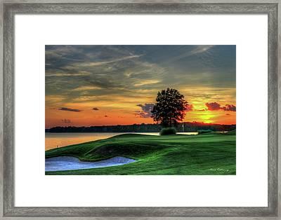 Golf Lake Oconee Reynolds Landing Art Framed Print by Reid Callaway