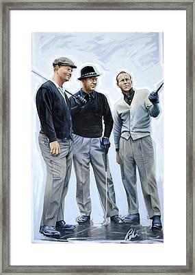 Golf Legends No 1 Framed Print by Mark Robinson