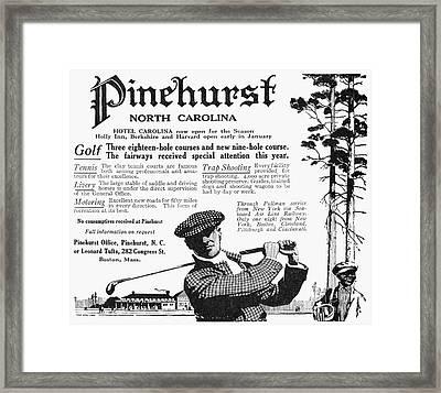 Golf: Pinehurst, 1916 Framed Print by Granger
