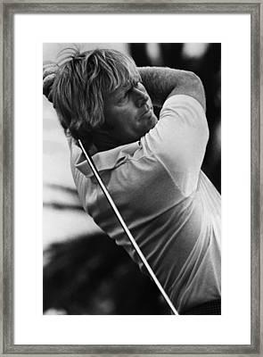 Golf Pro Jack Nicklaus, 1973 Framed Print by Everett