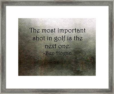 Golf Quote Framed Print