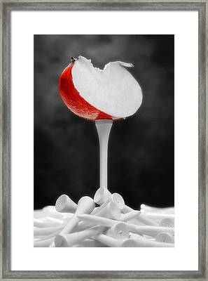 Golf Slice Still Life Framed Print by Tom Mc Nemar