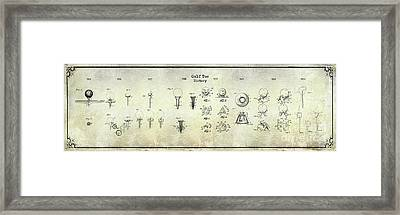 Golf Tee History Patent Drawing Framed Print by Jon Neidert