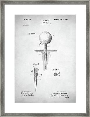 Golf Tee Patent Framed Print by Taylan Apukovska