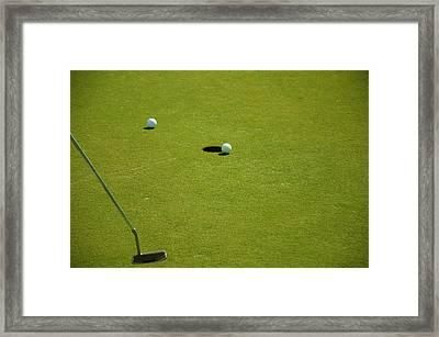 Golf - The Longest Inch Framed Print by Chris Flees