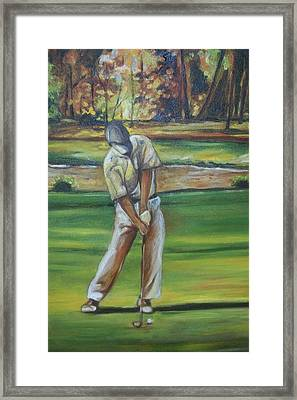 Framed Print featuring the painting Golf Tips by Emery Franklin