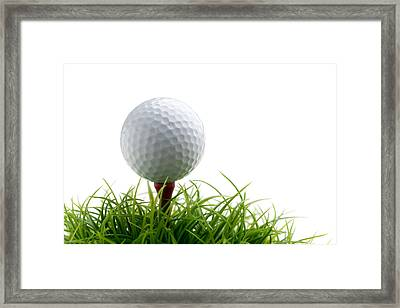 Golfball Framed Print by Kati Molin