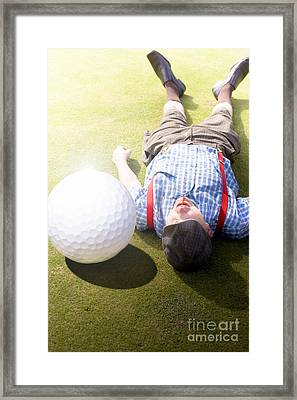 Golfer Didnt See That One Coming Framed Print