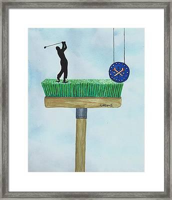 Golfer Framed Print by Edwin Alverio