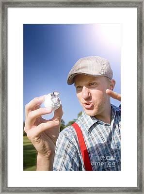 Golfer Gets A Birdie On The Ninth Framed Print by Jorgo Photography - Wall Art Gallery
