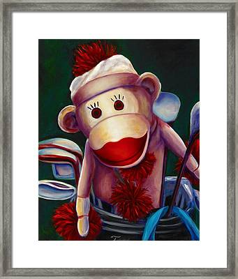 Golfer Made Of Sockies Framed Print
