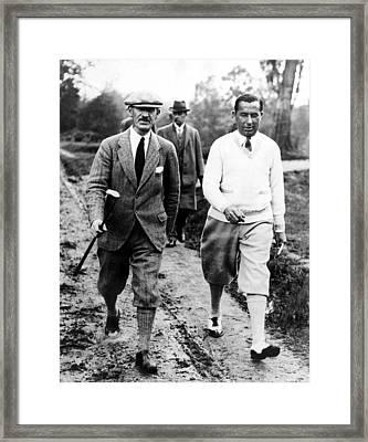 Golfers Abe Mitchell Walter Hagen Framed Print by Everett