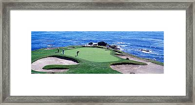 Golfers Pebble Beach, California, Usa Framed Print by Panoramic Images