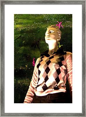 Golfimng Jumper Framed Print by Jez C Self