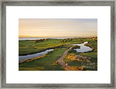 Golfing At The Gong II Framed Print