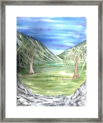 Golfing In Glacier Framed Print