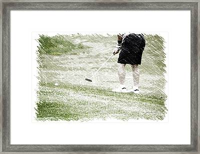Golfing Putting The Ball 01 Pa Framed Print by Thomas Woolworth