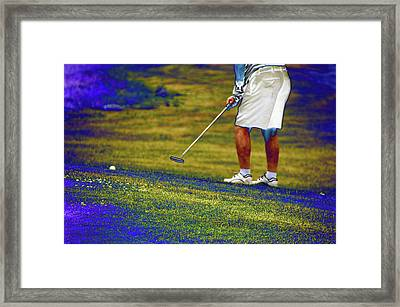 Golfing Putting The Ball 02 Pa Framed Print by Thomas Woolworth