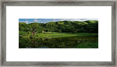 Golfito Desde La Laguna Framed Print by Bibi Rojas