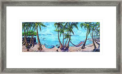 Golfo Dulce Beach Scene Framed Print