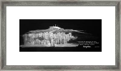 Golgatha Framed Print by William Walts