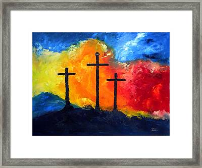 Golgotha Framed Print by David McGhee